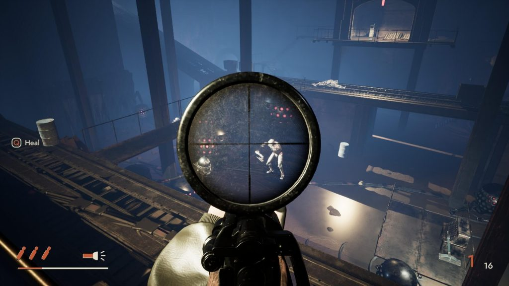 Industria was conceived as a shooter with narrative elements